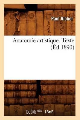 Anatomie Artistique. Texte