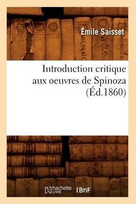 Introduction Critique Aux Oeuvres de Spinoza (Ed.1860)