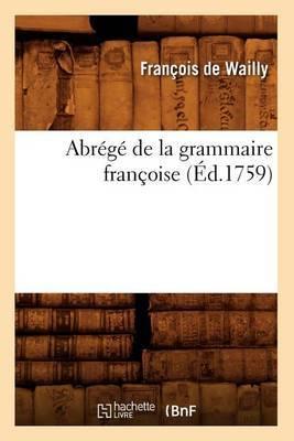 Abrege de La Grammaire Francoise (Ed.1759)