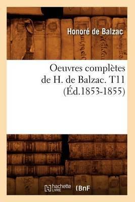 Oeuvres Completes de H. de Balzac. T11 (Ed.1853-1855)