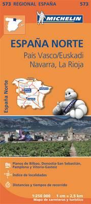 Pais Vasco, Navarra, La Rioja - Michelin Regional Map 573: Map