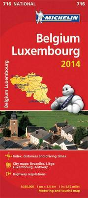 Belgium and Luxembourg 2014 National Map 716