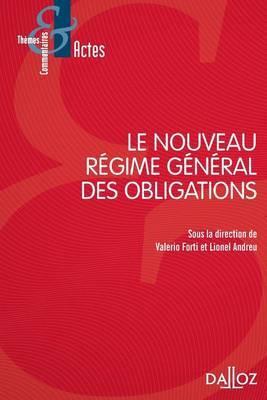 Le Nouveau Regime General Des Obligations