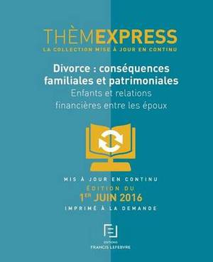 Themexpress-Divorce: Consequences Familiales Et Patrimoniales: Enfants Et Relations Financieres Entre Les Epoux
