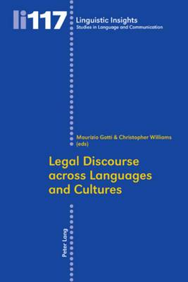 Legal Discourse across Languages and Cultures