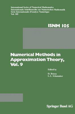 Numerical Methods in Approximation Theory: Vol. 9