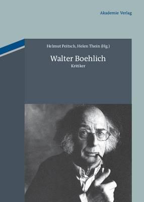 Walter Boehlich: Kritiker