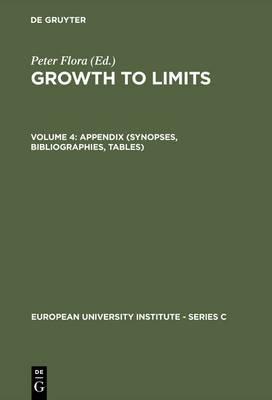 Growth to Limits: Western European Welfare States Since World War II: v. 4: Appendix