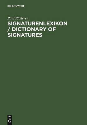 Dictionary of Signatures