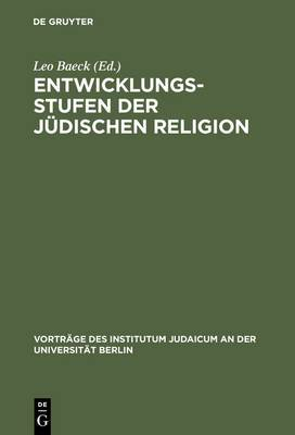 Entwicklungsstufen Der Judischen Religion