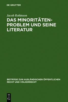 Das Minoritatenproblem Und Seine Literatur