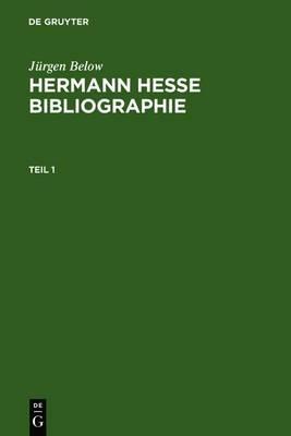 Hermann Hesse Bibliographie: Sekundarliteratur 1899-2007