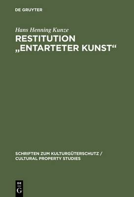 Restitution  Entarteter Kunst : Sachenrecht Und Internationales Privatrecht