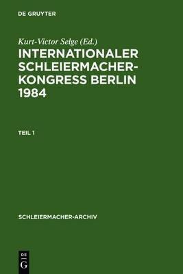 Internationaler Schleiermacher-Kongress Berlin 1984