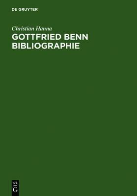 Gottfried Benn Bibliographie: Sekundarliteratur 1957-2003