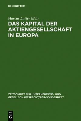 Das Kapital Der Aktiengesellschaft in Europa