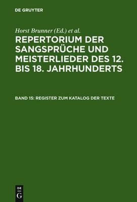 Register Zum Katalog Der Texte: Stichworter