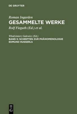 Schriften Zur Phanomenologie Edmund Husserls