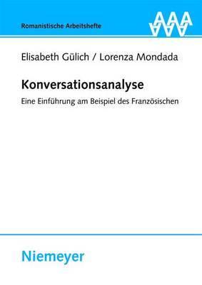 Konversationsanalyse: Eine Einfuhrung Am Beispiel Des Franzosischen