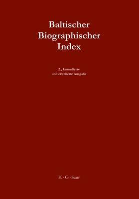 Baltischer Biographischer Index / Baltic Biographical Index