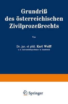 Grundriss Des Asterreichischen Zivilprozessrechts