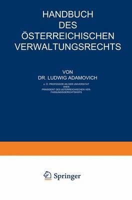 Handbuch Des Asterreichischen Verwaltungsrechts: Teil 2: Materiellrechtlicher Teil