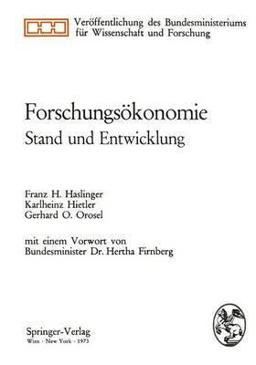 Forschungsakonomie: Stand Und Entwicklung