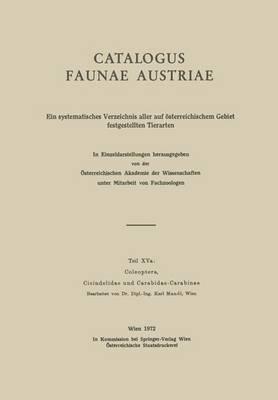 Coleoptera, Cicindelidae Und Carabidae-Carabinae