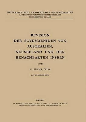 Revision Der Scydmaeniden Von Australien, Neuseeland Und Den Benachbarten Inseln