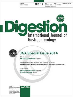 JGA Special Issue: Including Abstracts of the 6th International Gastrointestinal Consensus Symposium (IGICS), JGA Keynote Program: 'Microbiomes in Gastrointestinal Disease', Tokyo, January 2013: 2014: Vol. 89, No. 1: Special Topic Issue: Digestion