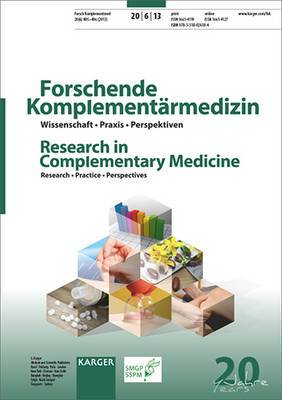 Fasting Therapy - Old and New Perspectives: Themenheft: Forschende Komplementarmedizin / Research in Complementary Medicine 2013: Vol. 20, No. 6