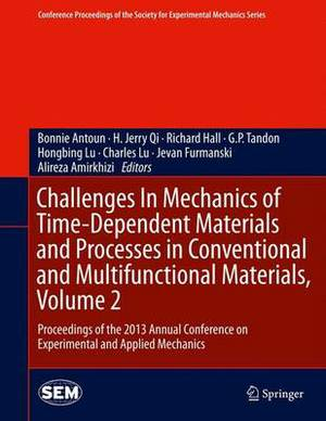 Challenges in Mechanics of Time-dependent Materials and Processes in Conventional and Multifunctional Materials: Proceedings of the 2013 Annual Conference on Experimental and Applied Mechanics: Volume 2