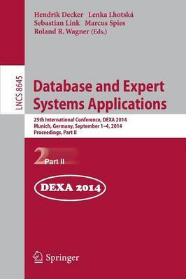 Database and Expert Systems Applications: 25th International Conference, Dexa 2014, Munich, Germany, September 1-4, 2014. Proceedings, Part II