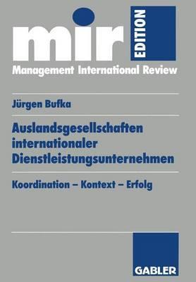 Auslandsgesellschaften Internationaler Dienstleistungsunternehmen