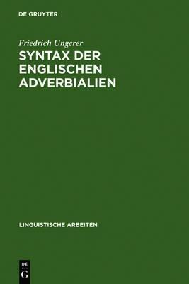Syntax Der Englischen Adverbialien