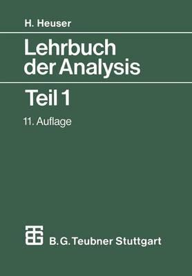 Lehrbuch Der Analysis: Teil 1