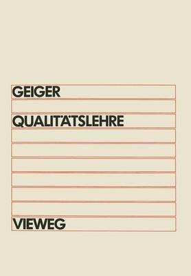 Qualitatslehre: Einfuhrung, Systematik, Terminologie