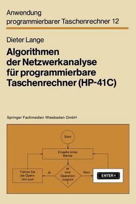 Algorithmen Der Netzwerkanalyse F r Programmierbare Taschenrechner (Hp-41c)