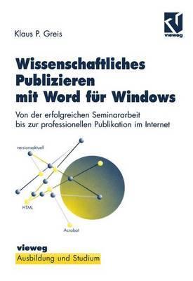 Wissenschaftliches Publizieren mit Word fur Windows