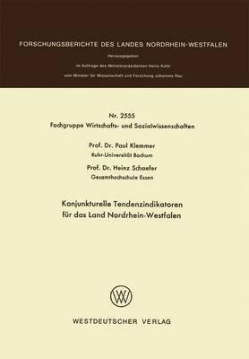 Konjunkturelle Tendenzindikatoren F r Das Land Nordrhein-Westfalen