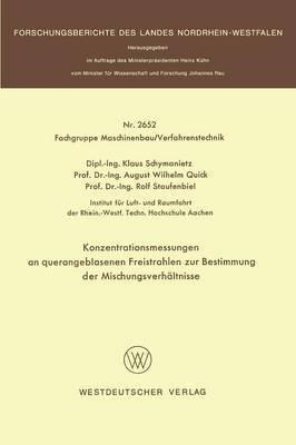 Konzentrationsmessungen an Querangeblasenen Freistrahlen Zur Bestimmung Der Mischungsverhaltnisse