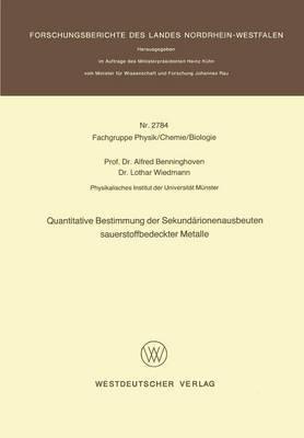 Quantitative Bestimmung Der Sekundarionenausbeuten Sauerstoffbedeckter Metalle