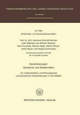 Sozialleistungen: Strukturen Und Selektiveaten