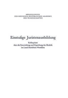 Einstufige Juristenausbildung Kolloquium, Bremen, Sept 1974