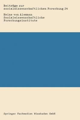 Sozialwissenschaftliche Forschungsinstitute: Personalstruktur, Forschungsprojekte Und Spezialisierung Der Sozialforschung