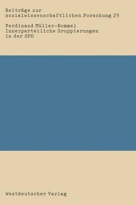 Innerparteiliche Gruppierungen in Der SPD: Eine Empirische Studie  ber Informell-Organisierte Gruppierungen Von 1969-1980