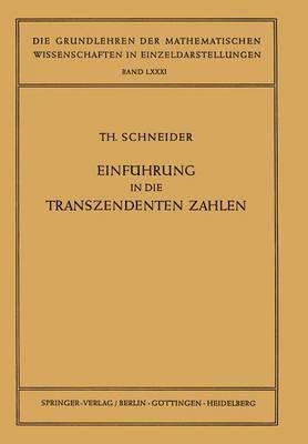 Einfa1/4hrung in Die Transzendenten Zahlen.