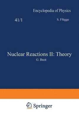 Kernreaktionen II: Theorie / Nuclear Reactions II: Theory