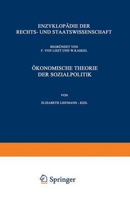 Okonomische Theorie Der Sozialpolitik