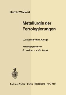 Metallurgie Der Ferrolegierungen